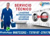 Línea blanca bosch 998722262 servicio técnico  refrigeradoras – el agustino