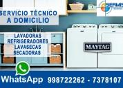 Maytag a su hogar 998722262  reparación de refrigeradoras – independencia