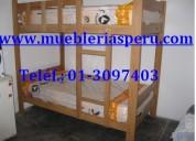 Camarote de madera - colchon - roperos