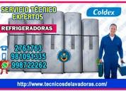 A su hogar!¡ reparación de refrigeradoras coldex –998722262 // independencia