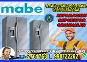 servicio técnico 2761763 refrigeradoras mabe – villa el salvador