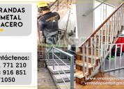 Barandas de metal o acero para escaleras