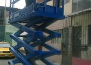 Venta , alquiler y reparaciones de elevadores tipo tijera 981379192
