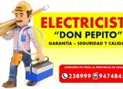 Electricista a domicilio y negocio todo huancayo