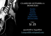 Se dictan clases de guitarra a domicilio(acustica y/o electrica)