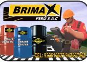 Atencion personalizada emulsion asfaltica con polimeros