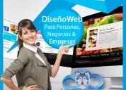 Diseño web profesional, tiendas online, hosting y dominio a s/50