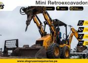 alquiler de mini retroexcavadora – aló grúas maquinarias