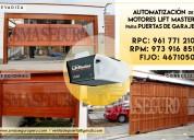 Automatización de motor para puertas de garaje en surco