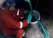 Limpieza de cisternas y tanques elevados de agua potable, fumigaciones