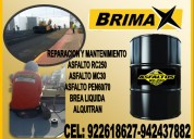 asfalto mc 30 / rc 250 x cilindro en brimax peru