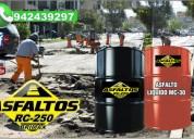 asfalto en liquido rc-250 100% calidad en provincias en brimax peru