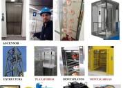 Mantenimiento, reparaciÓn, modernizaciÓn e instalacion de ascensores