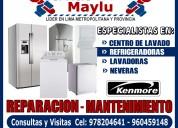 Servicio tecnico maylu - rrparacion de lavadora y secadora kenmore.. 978204641