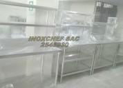 Stock mesa con repisas acero inoxidable lima peru