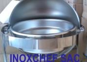Samovar chafer de lujo acero inoxidable stock 2545930