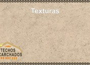 Decoración de techos y paredes, acabados granulados y escarchados; telf: 999 997 222 -