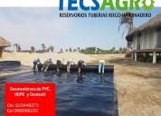 Venta de rollos de geomembrana hdpe y pvc servicio de instalaciÓn