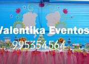 fiesta  infantiles frozen disney,decoraciones temáticas , dulces personalizados en lima