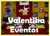 Pokemon en tus  fiestas infantiles , toldos , candy bar ,carrito de pop corn