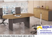 mesa para 6 sillas - mesa de melamina para 8 sillas - mesa de directorio