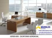 Escritorio gerencial - escritorio de melamina - escritorio lineal