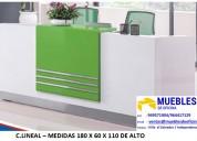 Mueble para recepcion - counter para hospital - counter para hotel