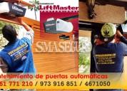 Mantenimiento de puertas de garaje automáticas lift master / nice