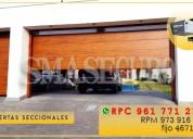 Puertas seccionales automáticas lift master para garaje