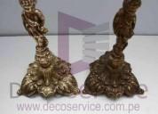 Mantenimiento y pulido de lamparas de cristal y bronceria en general