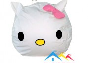 Puff hello kitty redondo