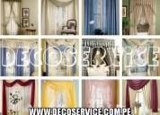 Cortinas en tull y tapasol venta y confección en telas modernas