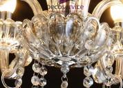 Arañas y lámparas de cristal en venta antiguas y modernas en decoservice