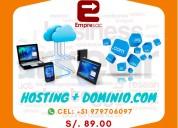 Hosting + dominio - empresac