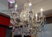 Arañas de cristal nacional e importada confección y fábrica