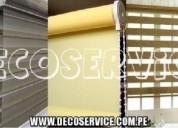 Venta, confección y mantenimiento de cortinas blackout, rollers screen y dúo