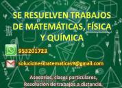RealizaciÓn de trabajos de matemÁticas y otros