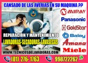 Garantía-servicio técnico de lavadoras panasonic-miray-balay 998722262-jesús maría