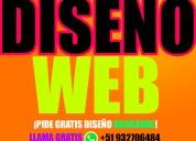 DiseÑo web creacion de paginas web desarrollo de tienda virtuale dominio hosting y correos gratis