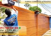 Puertas batientes en madera/metal lift master