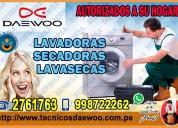 Expertos en soporte técnico de lavadoras daewoo 998722262-miraflores