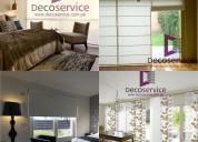 Brindamos limpieza y confección de cortinas, estores y persianas
