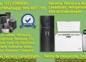 Lavadoras, refrigeradoras y a. acondicionado servicio técnico