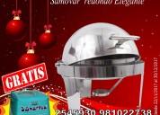 Samovar de acero inoxidable para buffet hervidor de agua stock 2545930