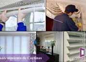 Lavado y mantenimiento de cortinas vamos a domicilio