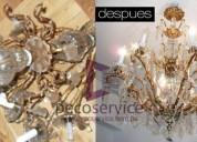 991153920 reparación y restauración de arañas de cristal en decoservice