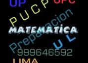 matematica para preuniversitarios .a domicilio desde.s/.16 hora.