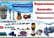 Reparaciones de bombas de agua y mantenimientos