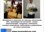 Mozos deluxe servicio para eventos