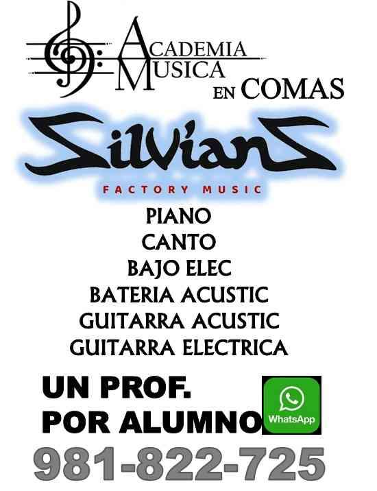 "CLASES DE MÚSICA EN COMAS ""SILVIANS FACTORY MUSIC"""